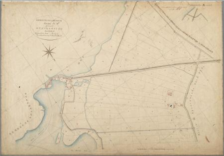 Kaart van Haarlemmerliede en Spaarnwoude, 1823.