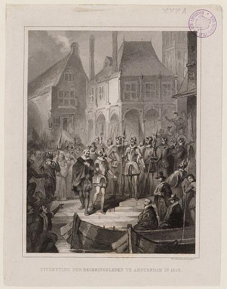 Uitzetting van het katholieke bestuur van Amsterdam in 1578.