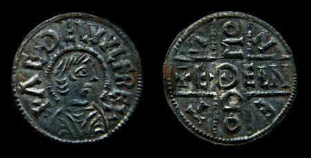 Zilveren duit van het koninkrijk Wessex, Aethelwulf 839-858.