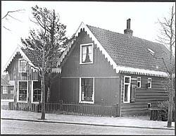 Het woonhuis van Neeltje Mulder aan het Weeshuispad 1 in Zaandijk
