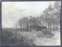 De hut omstreeks 1910.