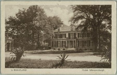Huize Schaepenburgh op een foto uit 1926