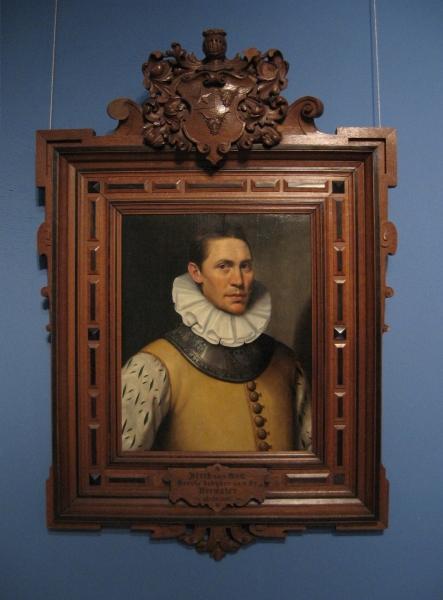 Portret Dirck van Oss, olieverf op paneel, gesigneerd VC of CV, 1583.