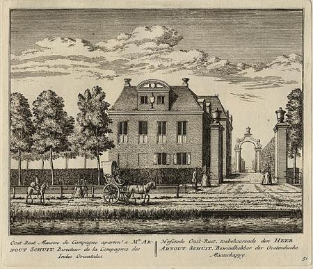Hollands Arcadia met buitenhuizen en lusthoven aan de Amstel, 1730.