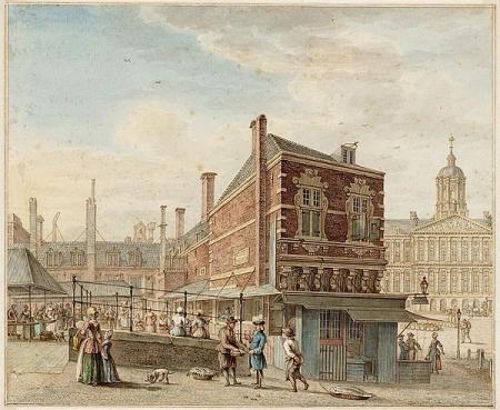 De Grote Vismarkt op de Damsluis, 1775.