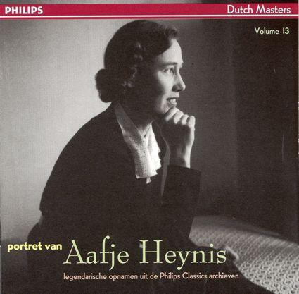 Hoes van een langspeelplaat met muziek van Bach, Brahms, Handel en Ritter.