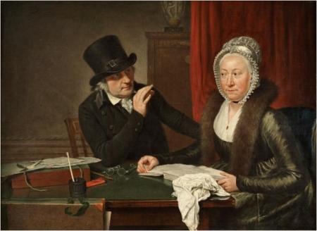 Portret van Wybrand Hendriks en zijn vrouw Agatha Ketel, door Wybrand Hendriks, ca. 1800.
