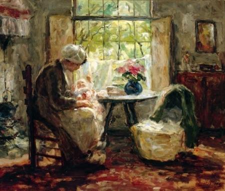 Moeder en kind, door Evert Pieters.