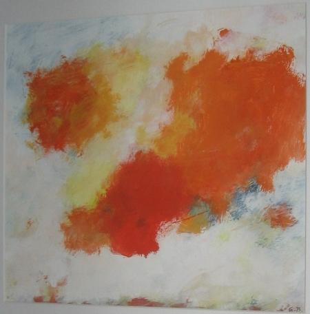 Eugène Brands, 'De rode wolk', acryl op doek (1994).