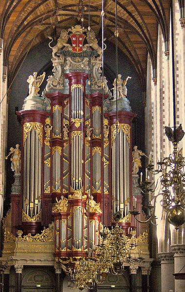 Het Müllerorgel in de Grote of St.Bavokerk in Haarlem