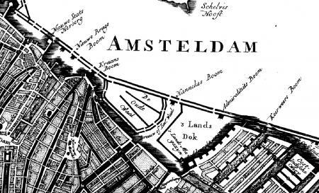 Hannekes Boom zichtbaar op historische kaart.