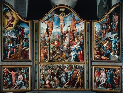 Maarten van Heemskerk, Laurentius-drieluik, 1538-1542.