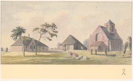 Veenhuizen in 1794. Getekend door Hendrik Tavenier.