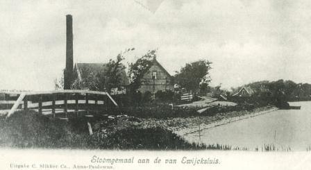 Stoomgemaal J.C. de Leeuw, ca. 1900.