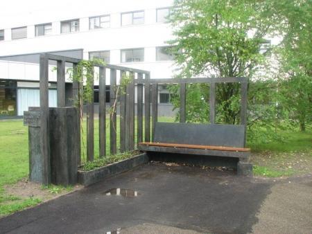 De recente versie van de Mart Stambank, achter het stadhuis van Purmerend.