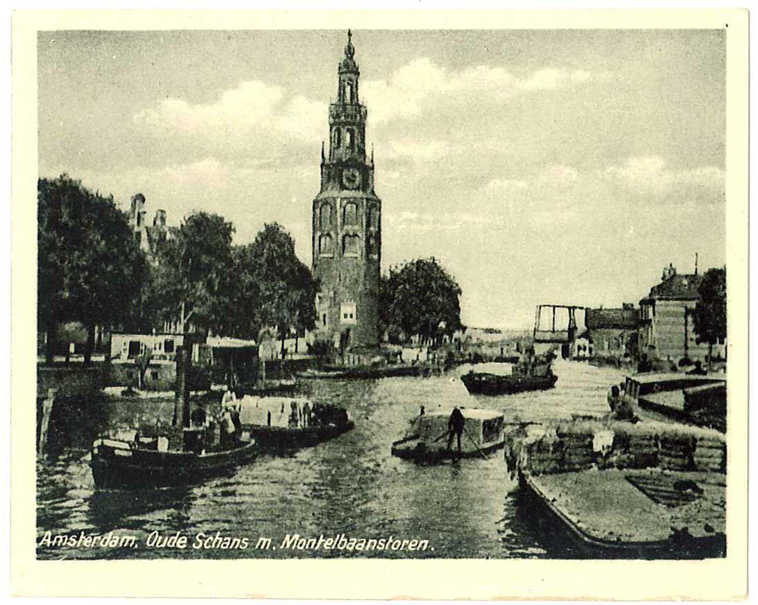 Foto van Oude Schans met Montelbaanstoren