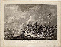 HET LANDEN Der ENGELSCHE, tusschen PETTE en CALLANTSOOG, op den 27 Augustus des Jaars 1799.