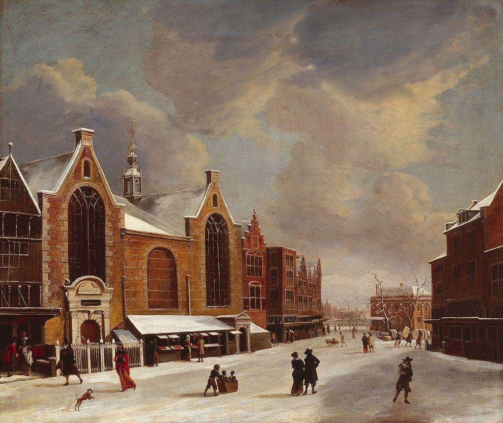 Gezicht op de Sint Olofskapel, door Abraham Beerstraten.