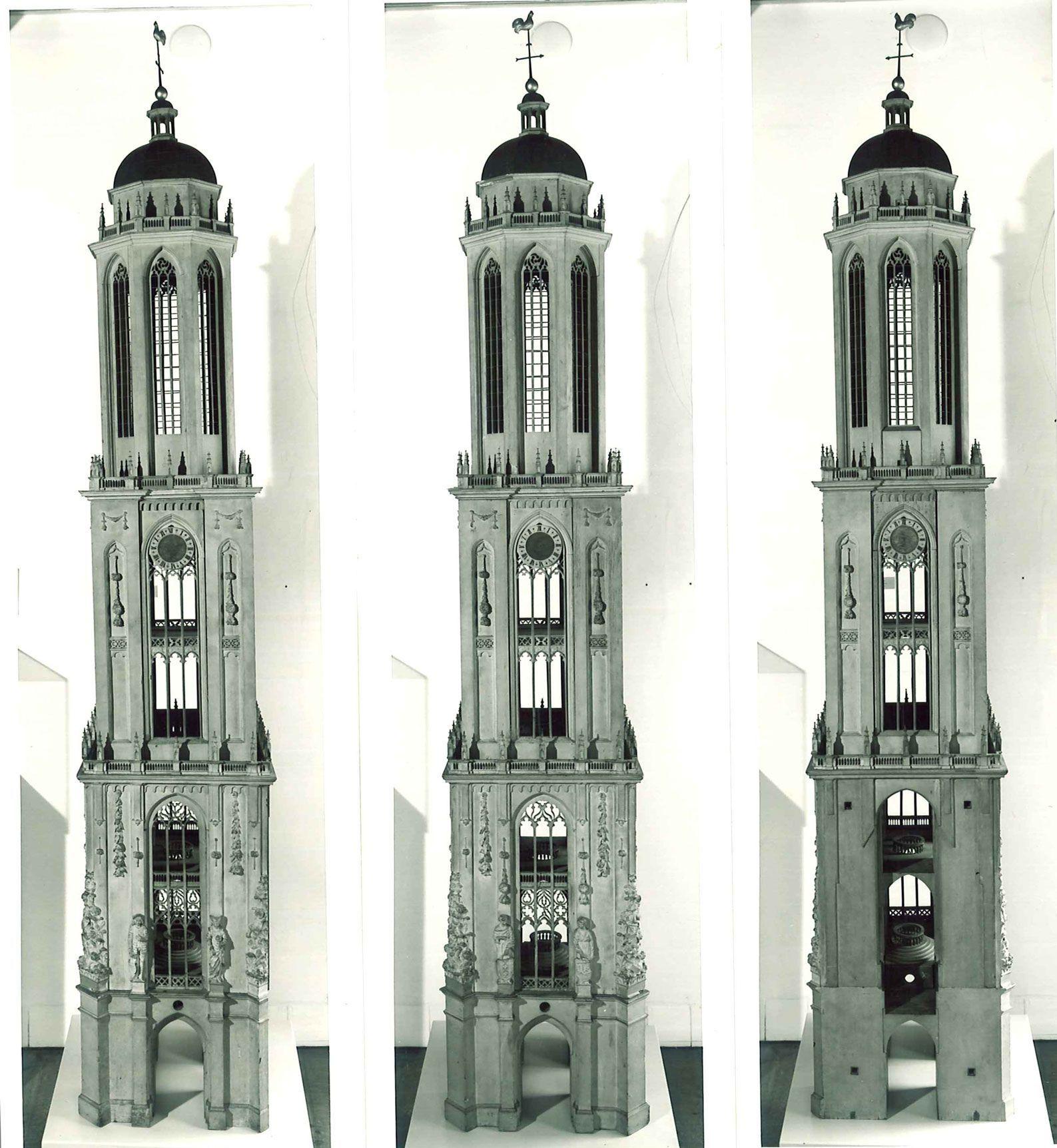 Een niet uitgevoerd ontwerp voor de toren.