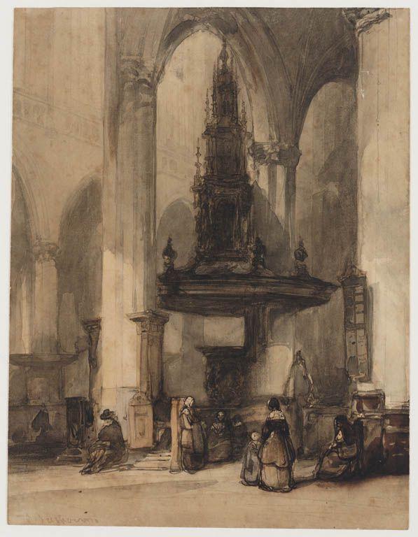 De preekstoel met monumentaal klankbord.