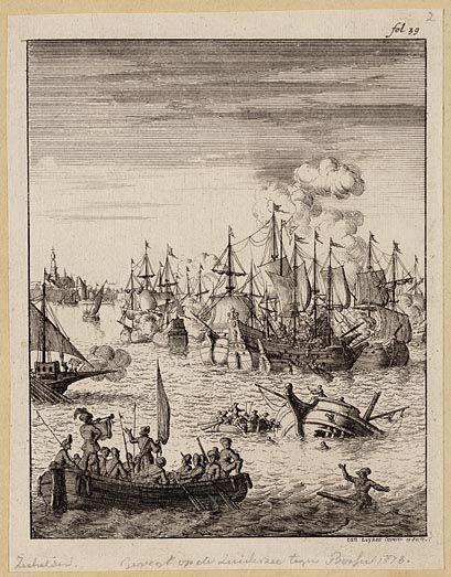 Slag op de Zuiderzee voor Enkhuizen tegen Bossu, 1573.