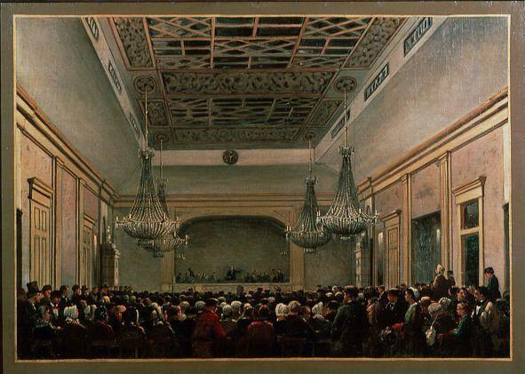 Opening van het nieuwe gebouw van de Maatschappij voor den Werkenden Stand, 13 juni 1883.