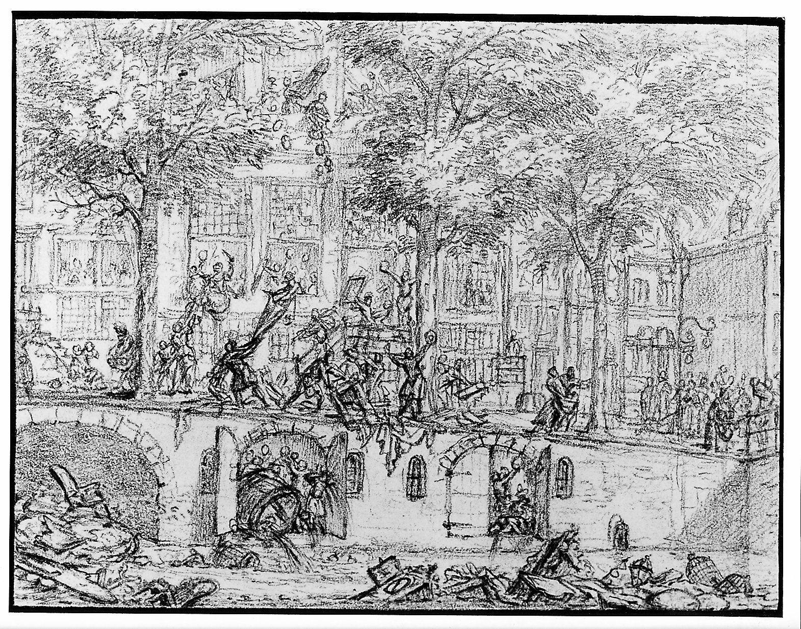 De plundering van het huis Singel 187.