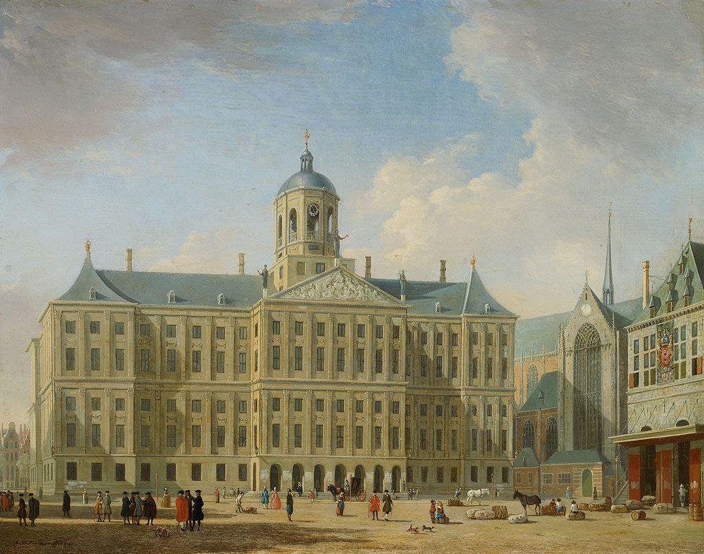 Het Stadhuis op de Dam