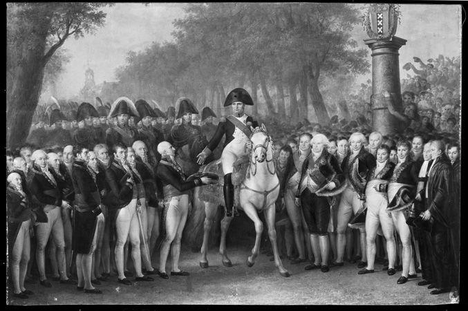 Intocht van Napoleon te Amsterdam, 9 oktober 1811.