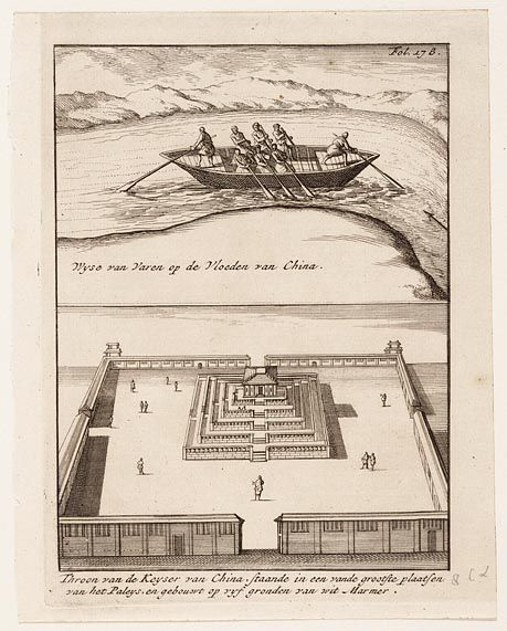 Wyse van varen op de vloeden van China, Throon van de keyser van China