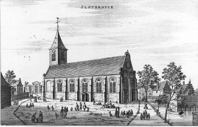 De dorpskerk van 'Sloterdyck'.