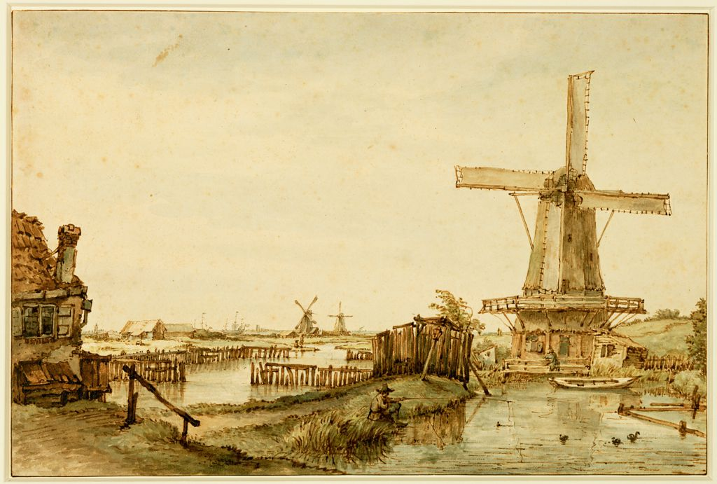De molen aan het funen en paardenhoek te Amsterdam