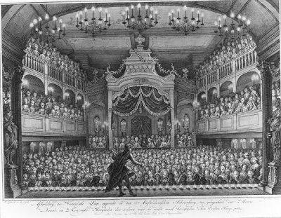 Afbeelding der vorstelyke loge, opgericht in den Amsteldamschen schouwburg