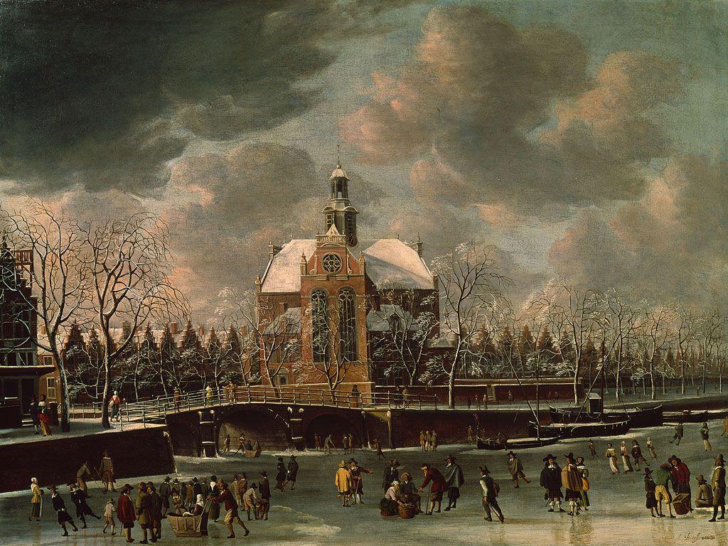 De Noorderkerk in de winter