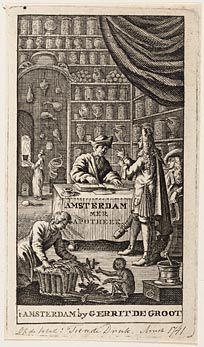 Een 'Amsterdammer apotheek' in de achttiende eeuw.