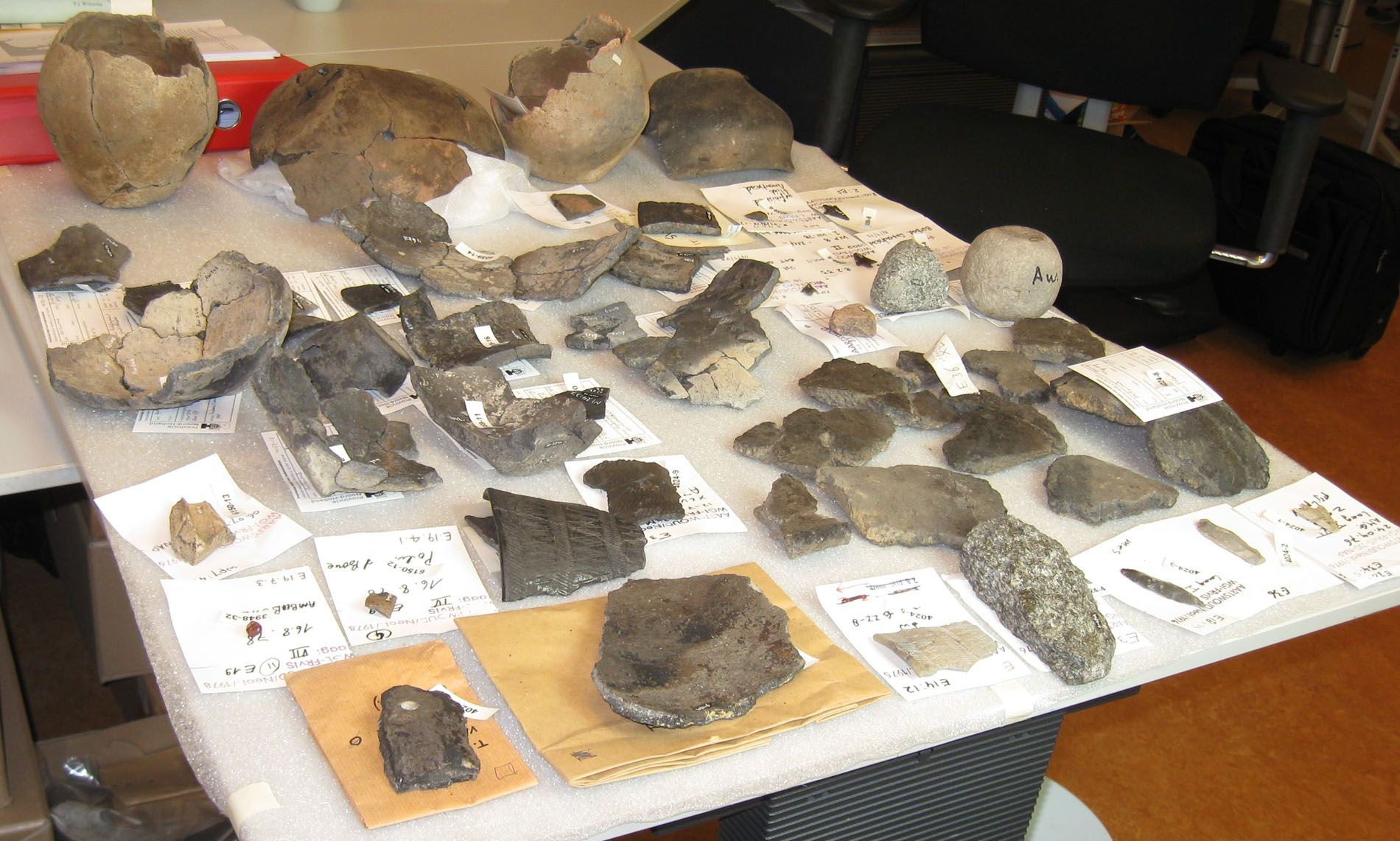 Archeologische vondsten.