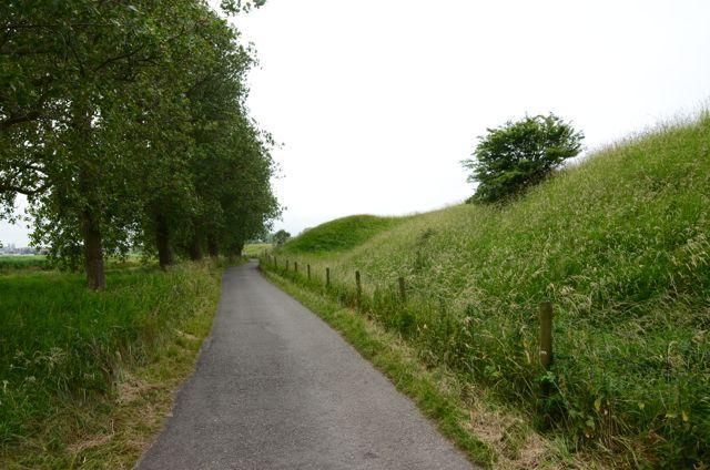Gedekte weg bij Spaarndam