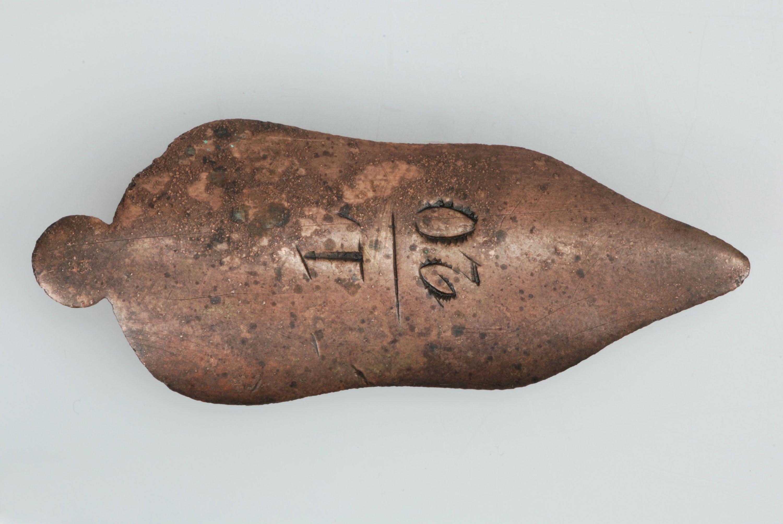 Musketplaatje of thumb plate.
