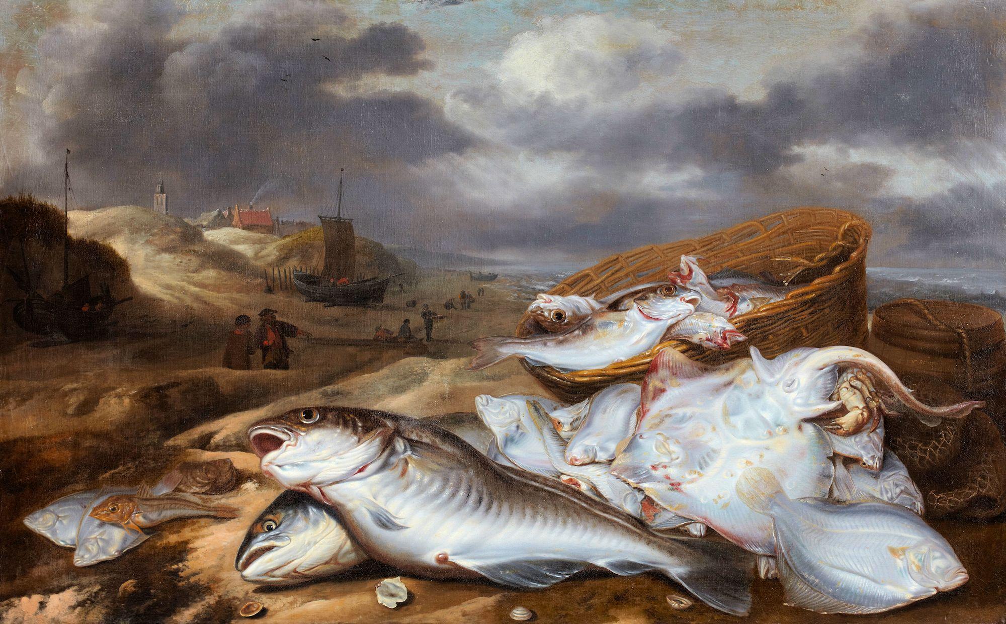 Visstilleven met gezicht op Egmond, collectie Stedelijk Museum Alkmaar