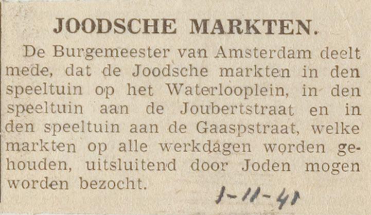 Markten voor joden.
