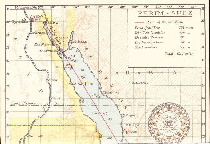 De Golf van Suez en de Rode Zee.