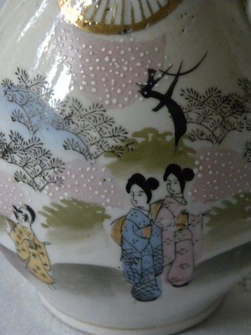 Japans porseleinen theeservies, detail.