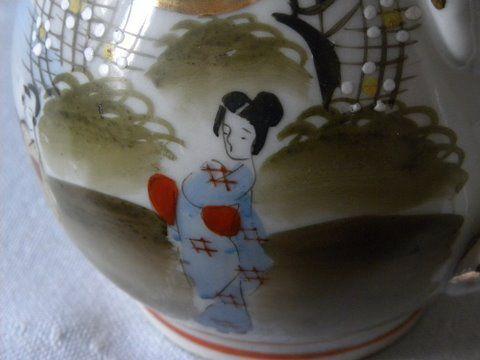 Japans porseleinen theeservies, nog een detail.