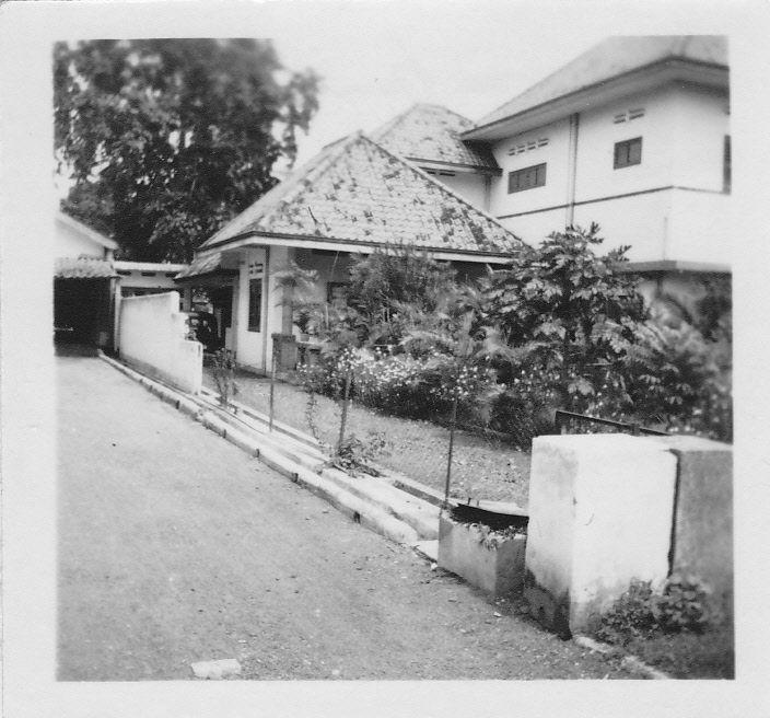 Het huis van de familie Oberman in Batavia, 1948.