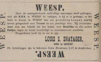 Gezocht: joodse kok in Weesp.