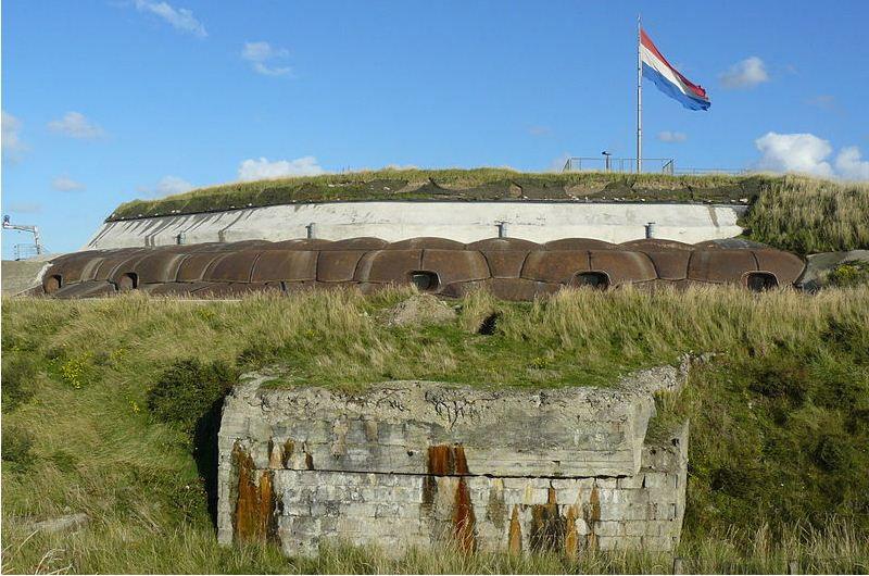 Forteiland IJmuiden: pantsering.