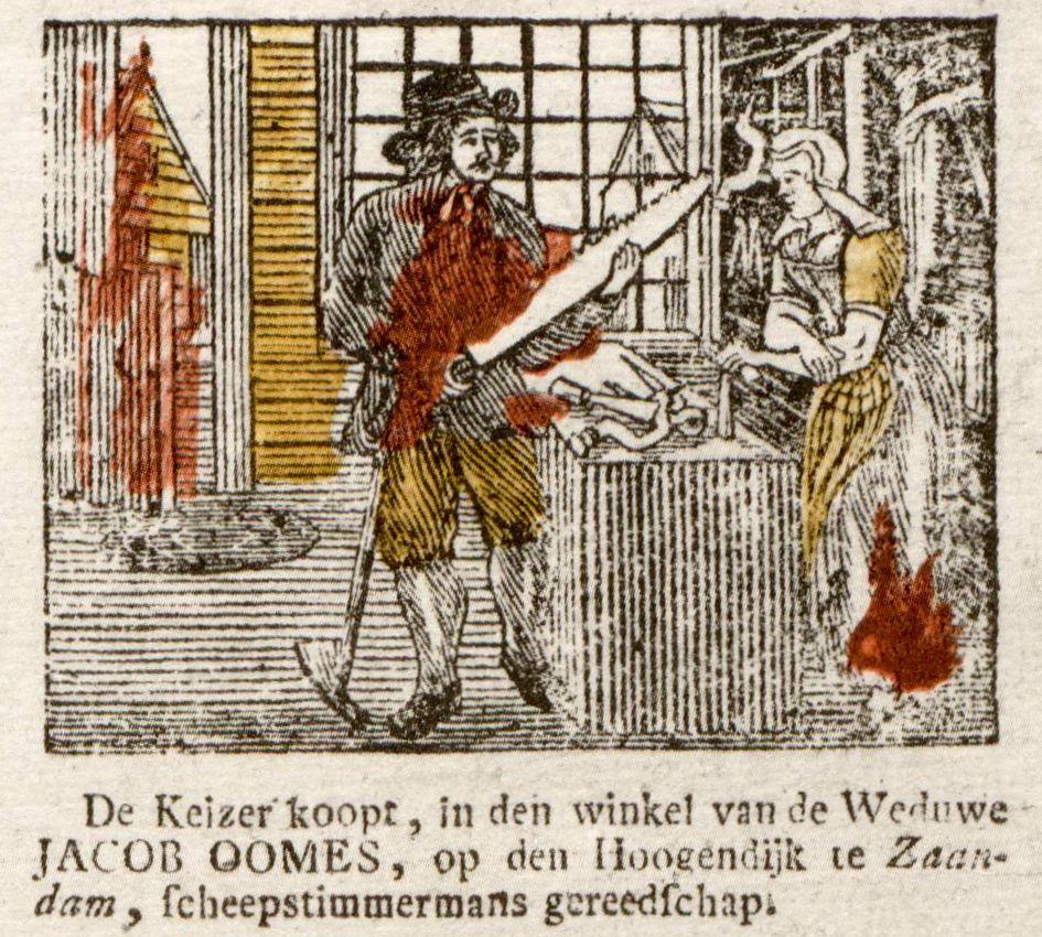Detail uit 19de eeuwse centsprent