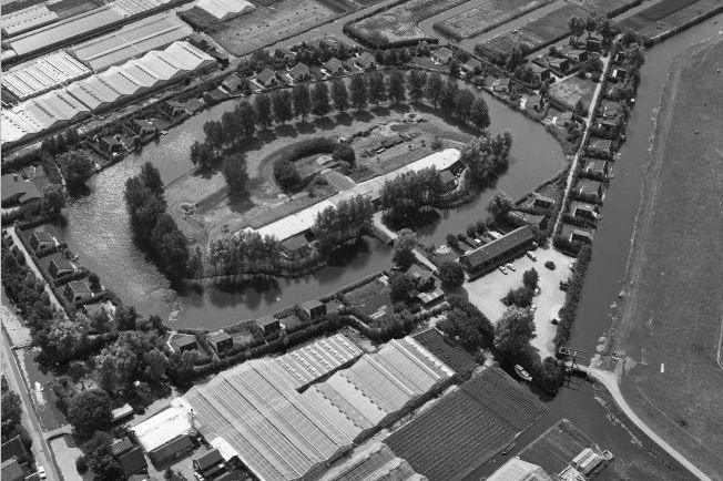 Luchtfoto Fort bij de Kwakel, Bron: Rijksdienst Cultureel Erfgoed