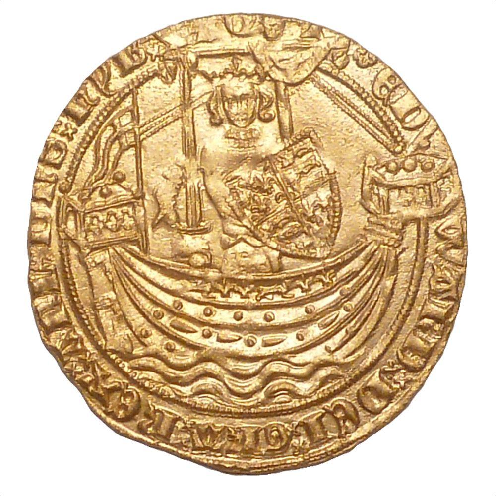Engelse gouden nobel van Edward III (1327-1377).