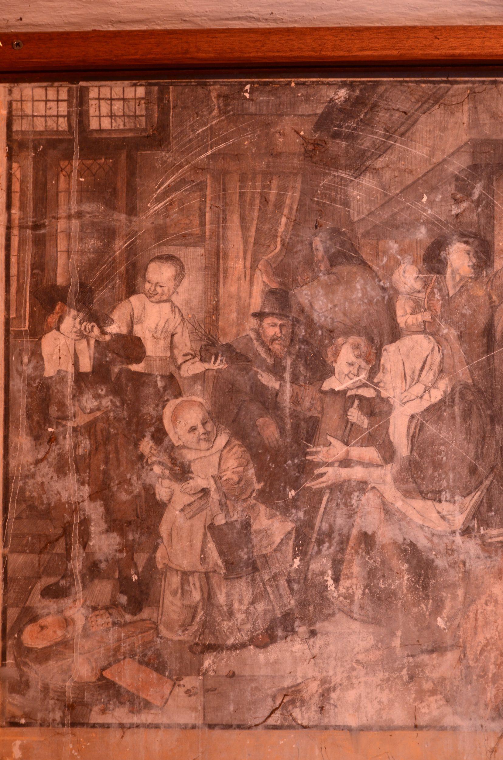 Jan Steen wandschildering
